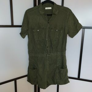 Abercrombie & Fitch Khaki Green Shorts Romper